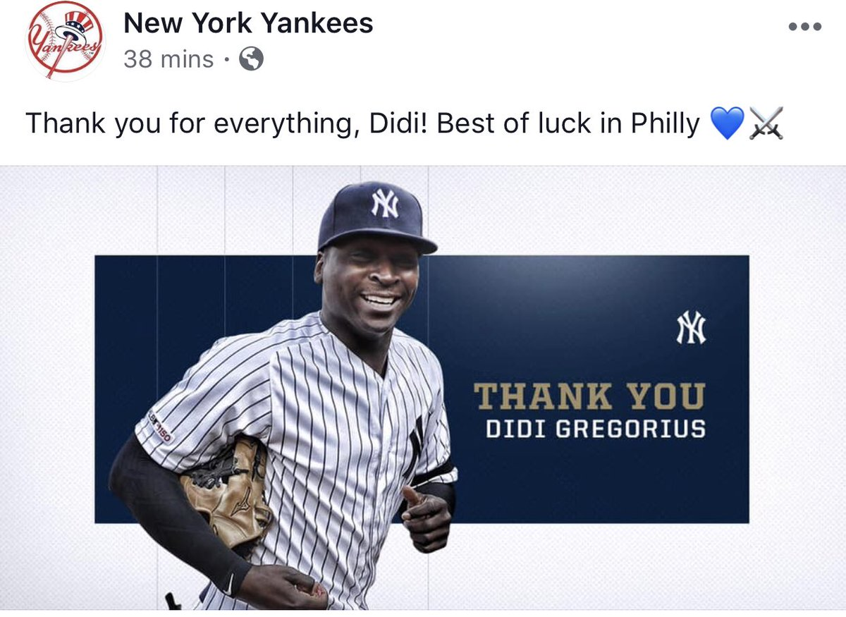 Saw this on the #Yankees Facebook. Classy move. Thank You, in-Didi<br>http://pic.twitter.com/Nj9JoewIQQ