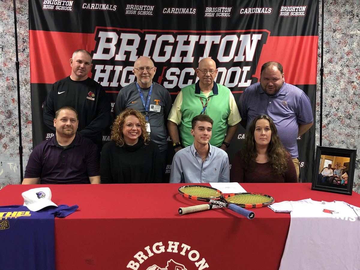 Congratulations to Ethan Earnest who signed a tennis scholarship with Bethel University today! We're excited for you and expecting big things from you this season! Best of luck!  <br>http://pic.twitter.com/y3l34NyVah