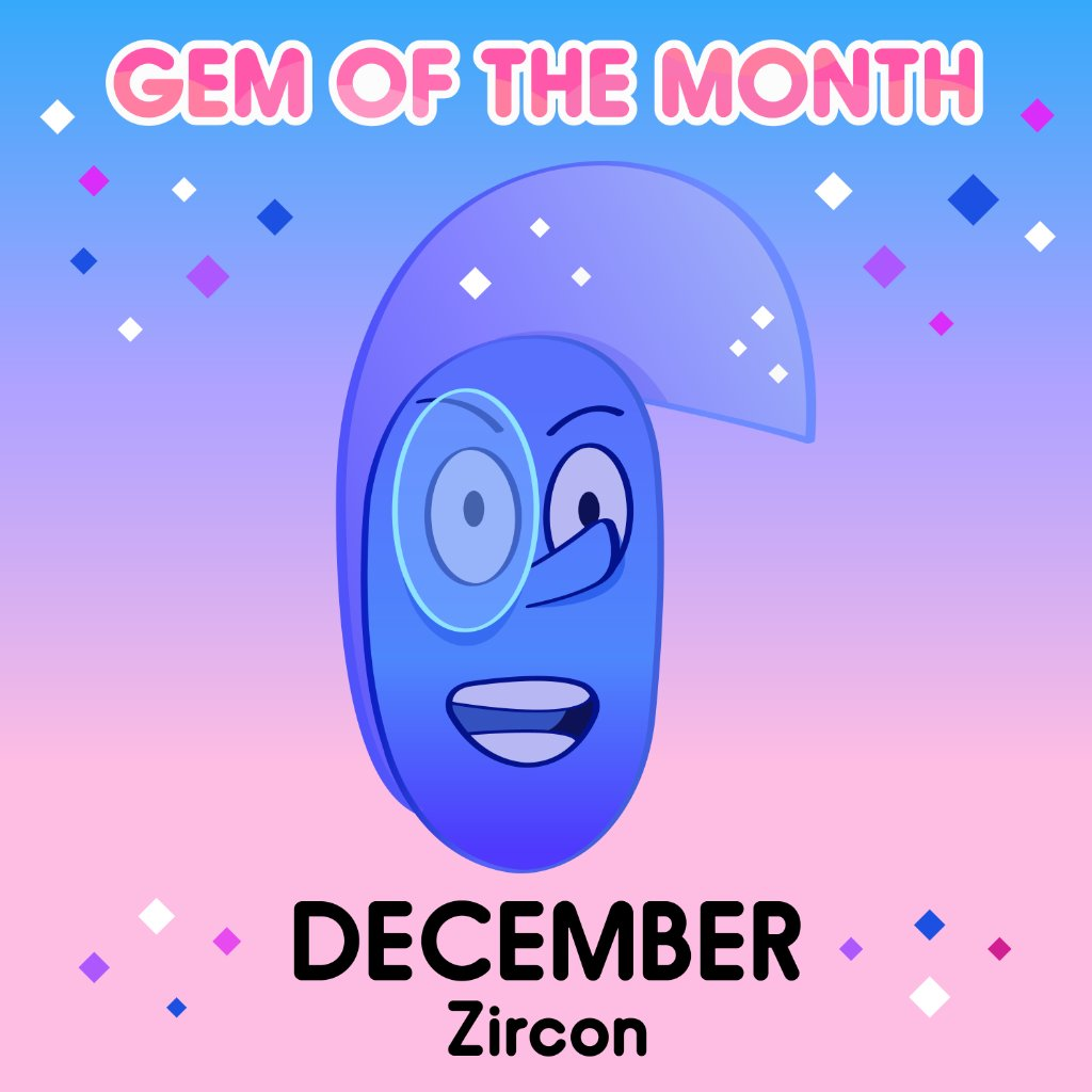 Tag someone who has a December gemstone! 🔷💎✨ Check back every month for a new #GemoftheMonth!  #Zircon #DecemberBirthday #StevenUniverse #cartoonnetwork