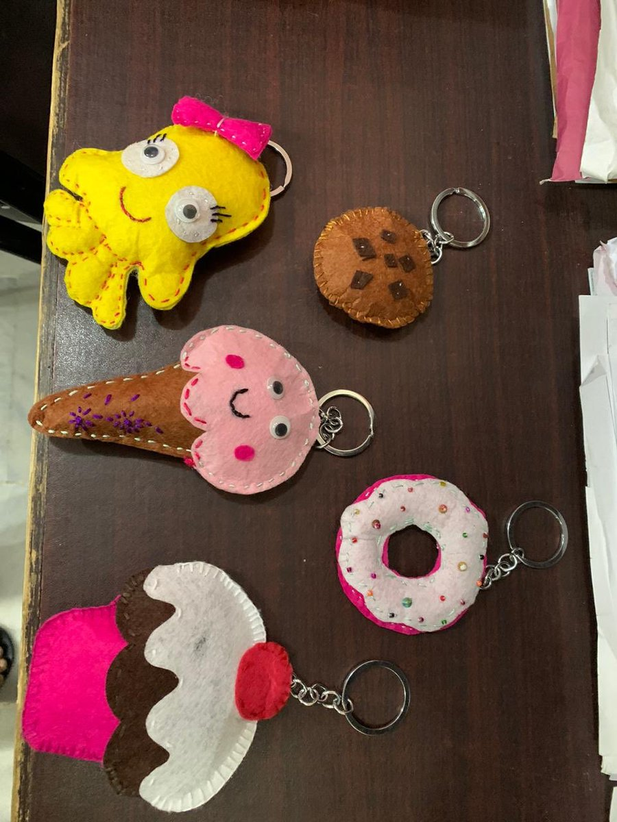 Key chains, cushions and many other handcraft made by women prisoners will be showcased in #WOWKarachi #britishcouncil