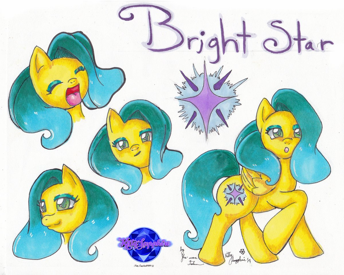 Here is my recent commission request of their pony OC Bright Star. I love how her hair turned out. I'm really proud of this. Getting really comfortable doing concept art. More on the way.  @KSapphire8989  #Commission #MLPOC #mylittleponiesfriendshipismagic #animeart #Artcommunity pic.twitter.com/4Q83JOHS0Z