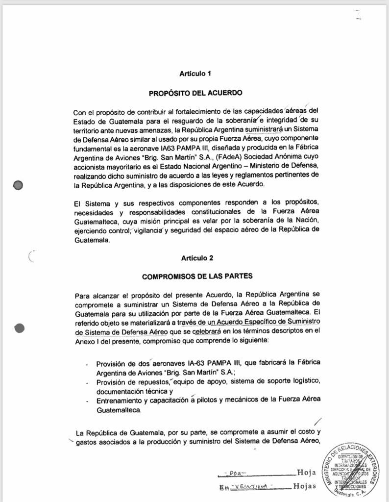 test Twitter Media - Ejecutivo envía a Congreso iniciativa que dispone aprobar acuerdo entre Guatemala y Argentina para la compra de dos aviones Pampa III. https://t.co/FfYgsCXVq6
