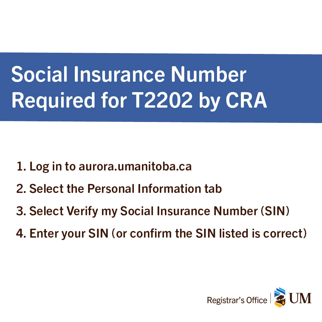 Um Student On Twitter Enter Your Social Insurance Number Sin
