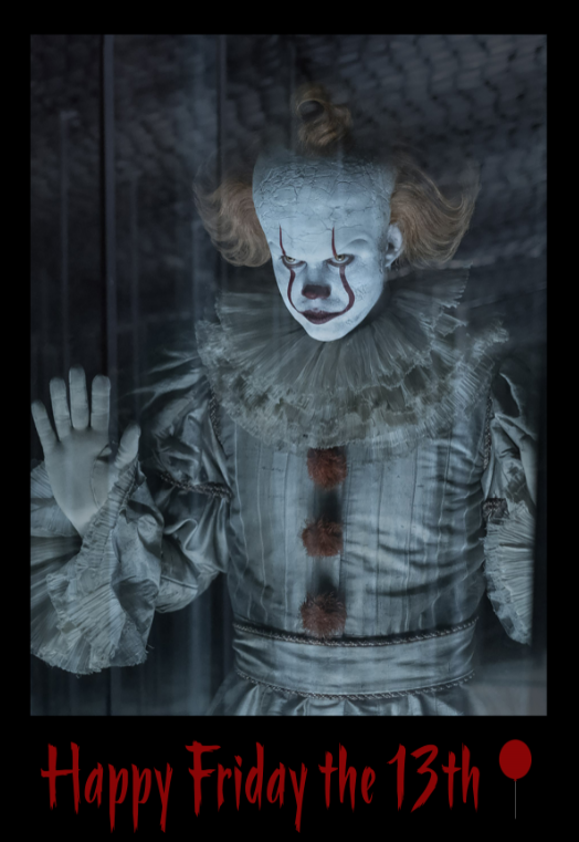Happy Friday the 13th from Pennywise. #Friday13th #Pennywise #IT spoti.fi/348j9Vs