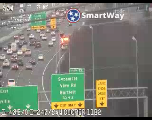 #MEMPHIS - Right exit ramp lane partially blocked as you roll EB on 40 towards Sycamore View. https://t.co/SCsq6JOj0Y