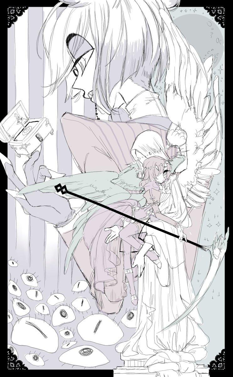 // this piece is for sure gonna take some time to ink/colour #HazbinHotelOC | #HazbinHotel | #alastor | #reaper