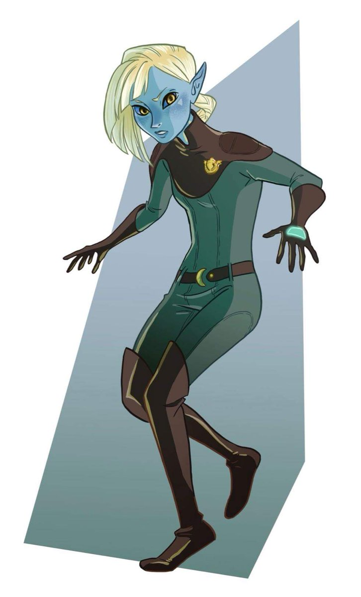 Lazuli Heitz. Lower Elements Police Specialist. Half elf, half pixie - a 'Pixel'. First day above ground on a simple training exercise, she bumps into probably the most dangerous 11 year olds on the planet, #TheFowlTwins. 🖌 Artwork by lesnoth on #Tumblr.
