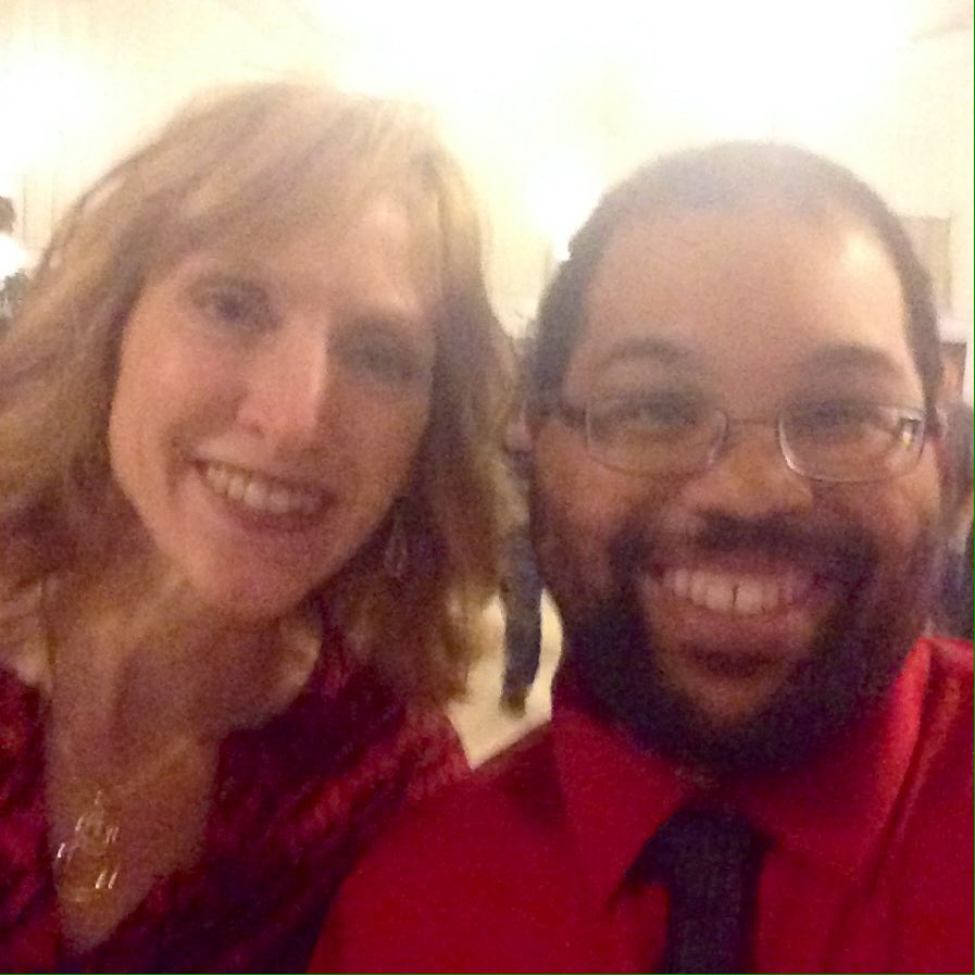 Hanging out at the @McGowanRM holiday party with @AR3Tg program manager Laura Miller!