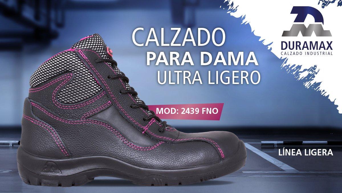 #CalzadoParaDama con suela ultra ligera y protección en punta con casquillo de acero. #CalzadoIndustrialDURAMAXpic.twitter.com/9YZn4OfGXi