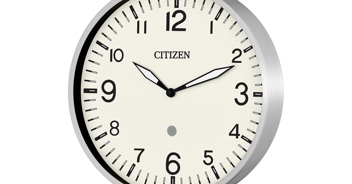 Citizen has a fancier alternative to Amazon's Alexa wall clock