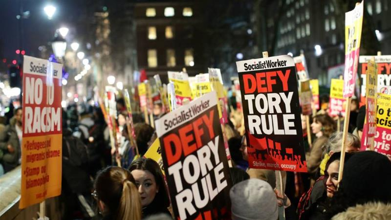 Anti-Johnson protests kick off in London and Glasgow