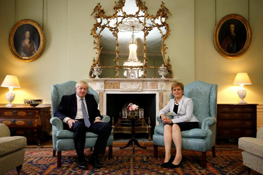 UK's Johnson tells Sturgeon there will be no new Scottish referendum