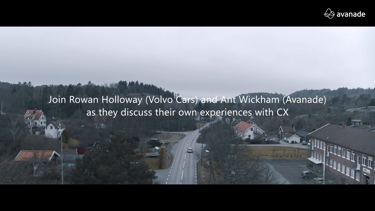 Set yourself on cruise and join rowanholloway of Volvo Cars and Ant Wickham of AvanadeInc for expert insights on #personalization, #automation and #agile across scenic vistas of Västra Götaland, #Sweden. Watch the series: http://avana.de/33JkAu8 #Future…