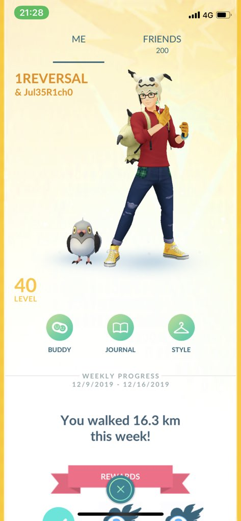 """Rip Julie from Queensland, Australia. In light of her passing I'm changing my buddy name to her Trainer Name """"Jul35R1ch0"""" to pay respects to Julie until the end of the year.  If anyone knows her favorite Pokémon, please share it with us! #PokemonGO <br>http://pic.twitter.com/XKoudpDbMN"""