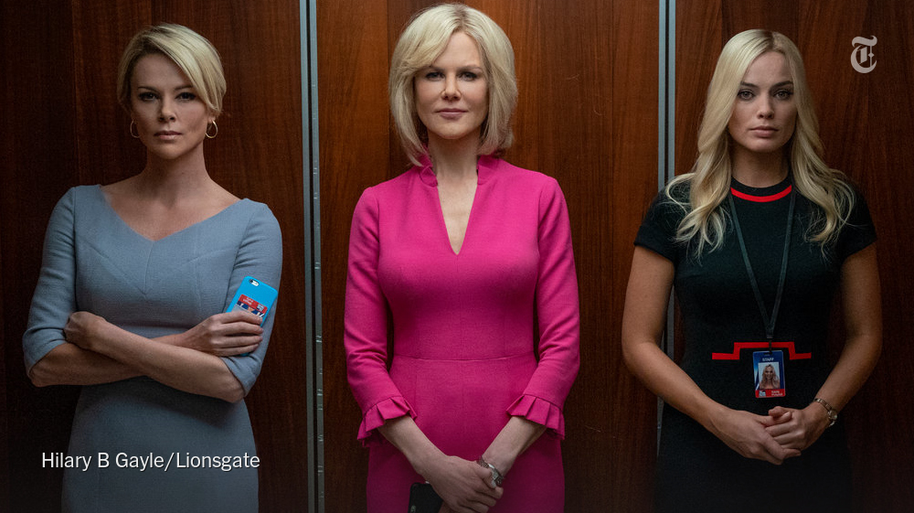 "That is one uncomfortable elevator ride. Watch Charlize Theron, Nicole Kidman and Margot Robbie in this scene from ""Bombshell,"" narrated by its director Jay Roach. https://nyti.ms/2ROZzeD"