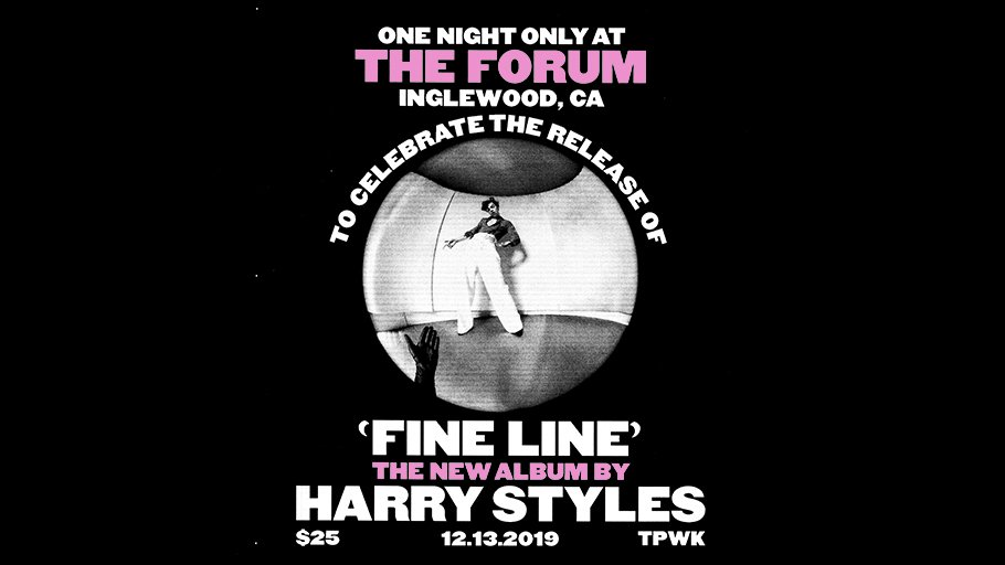 TONIGHT: @Harry_Styles. Fine Line Live. One Night Only.  TIMES: 5pm terrace, 6pm doors, 7pm event  Help us & @StellaArtois feed families this holiday season! Bring canned food items to the show & drop them in our Cans for a Cause bins, located at each entry point! #FineLineLive <br>http://pic.twitter.com/DqoBIn2XES