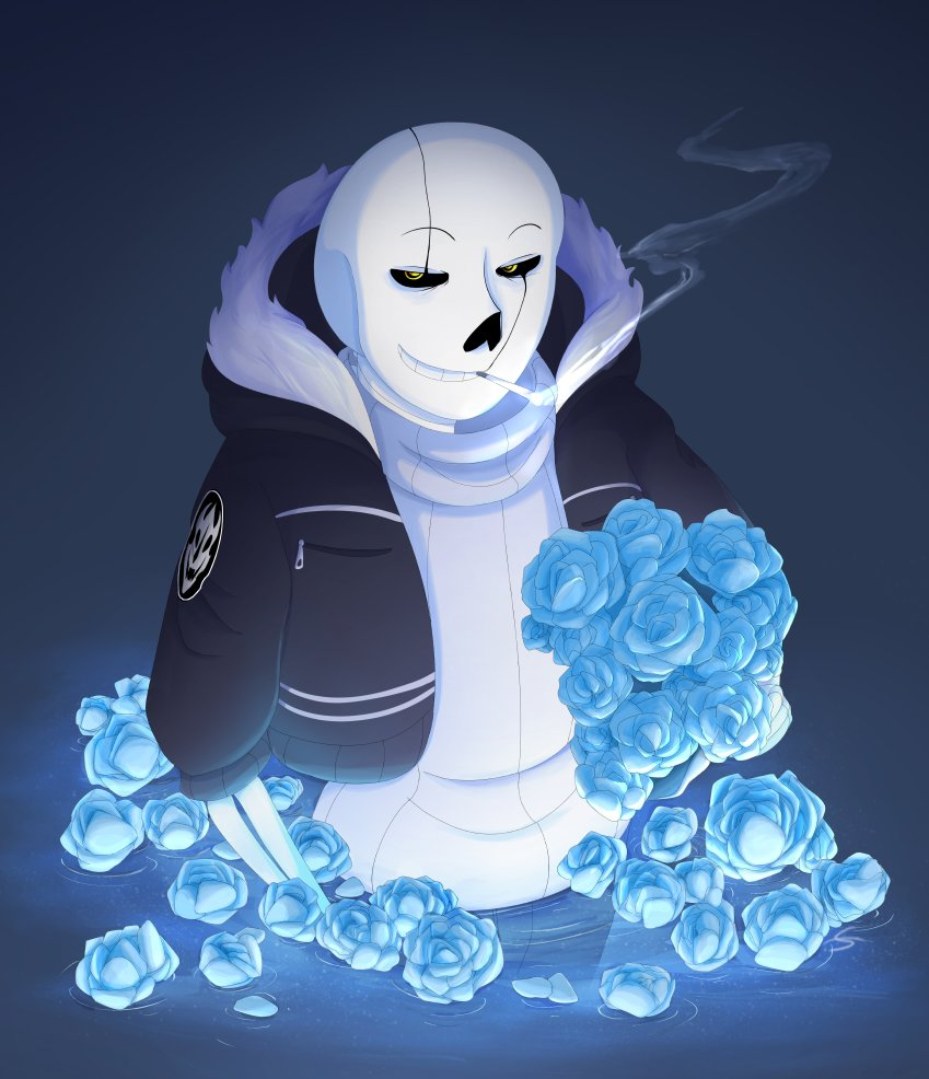 Spacejacket On Twitter Blue Roses And Gaster Sans 2nd Late