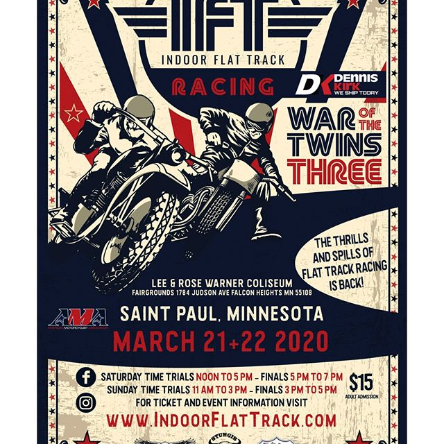 We are excited to be the title sponsor for this years Indoor Flat Track Racing!🏍️ There will be 2 full days of racing this year on Saturday, March 21st and Sunday, March 22nd!🏁 Mark your calendars and get your ticket's by using this link 🔗 https://t.co/LWOsLCNxzg https://t.co/mjO5Dkb7rb