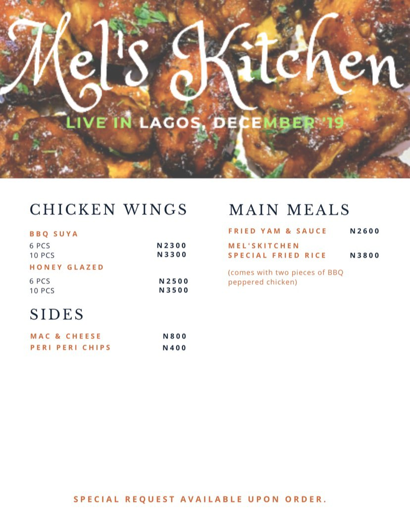 Melskitchen would be in Lagos this Christmas. Don't need to tell you what to do when you're hungry  or need good food for the festive season . Let's get this round  <br>http://pic.twitter.com/KhTqgDCI6d