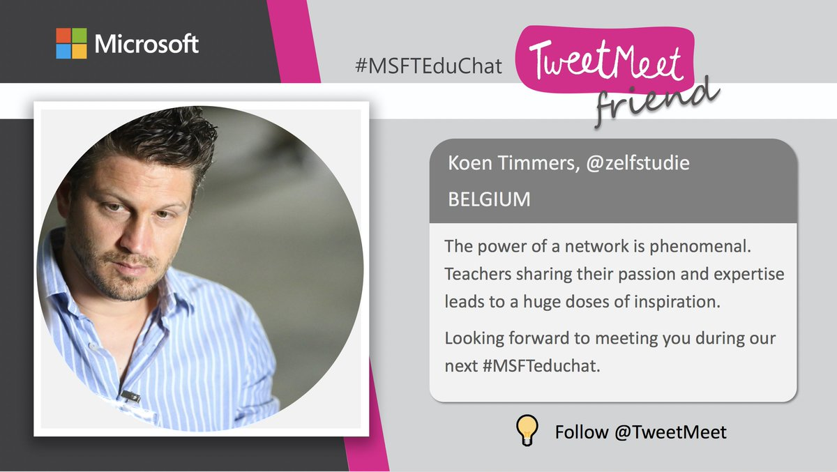 4 days to go. Will you join our next #MSFTeduchat? Be inspired. Who's in? #MIEExpert