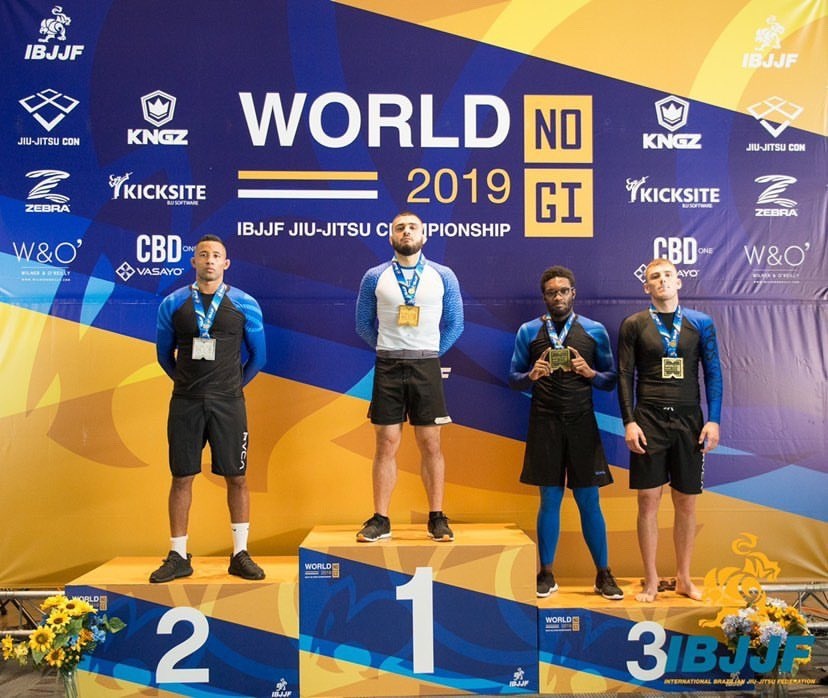 Awesome experience at @ibjjf nogi worlds securing first place in the men's heavyweight division. Extremely excited to continue growing in every facet of my game. Can't wait to get back and showcase more of my skills and diversity in the cage. https://t.co/yPe1zxZ9gg