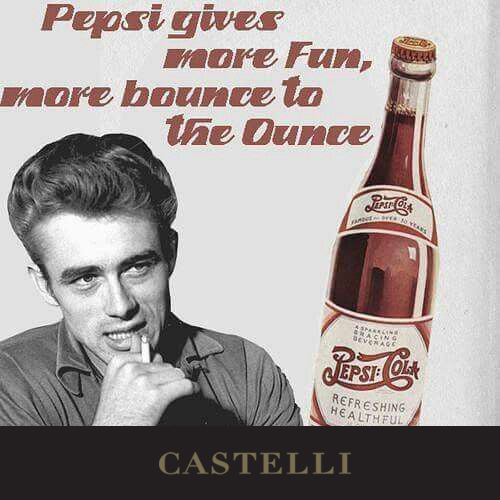 On this day: James Dean begins his acting career with an appearance in a 'Pepsi' commercial 1950 (Source: Castelli 2019 corporate diary, our corporate diaries feature facts for every day) 2020 #diaries with a range of branding processes