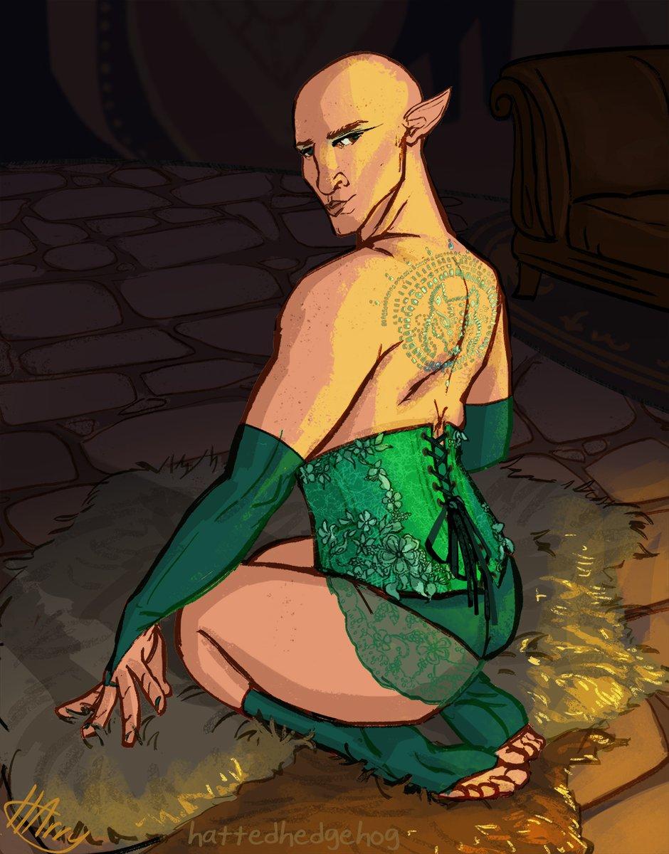 Inquisition pin ups: Solas  #dragonage<br>http://pic.twitter.com/1VBQj2wlZn