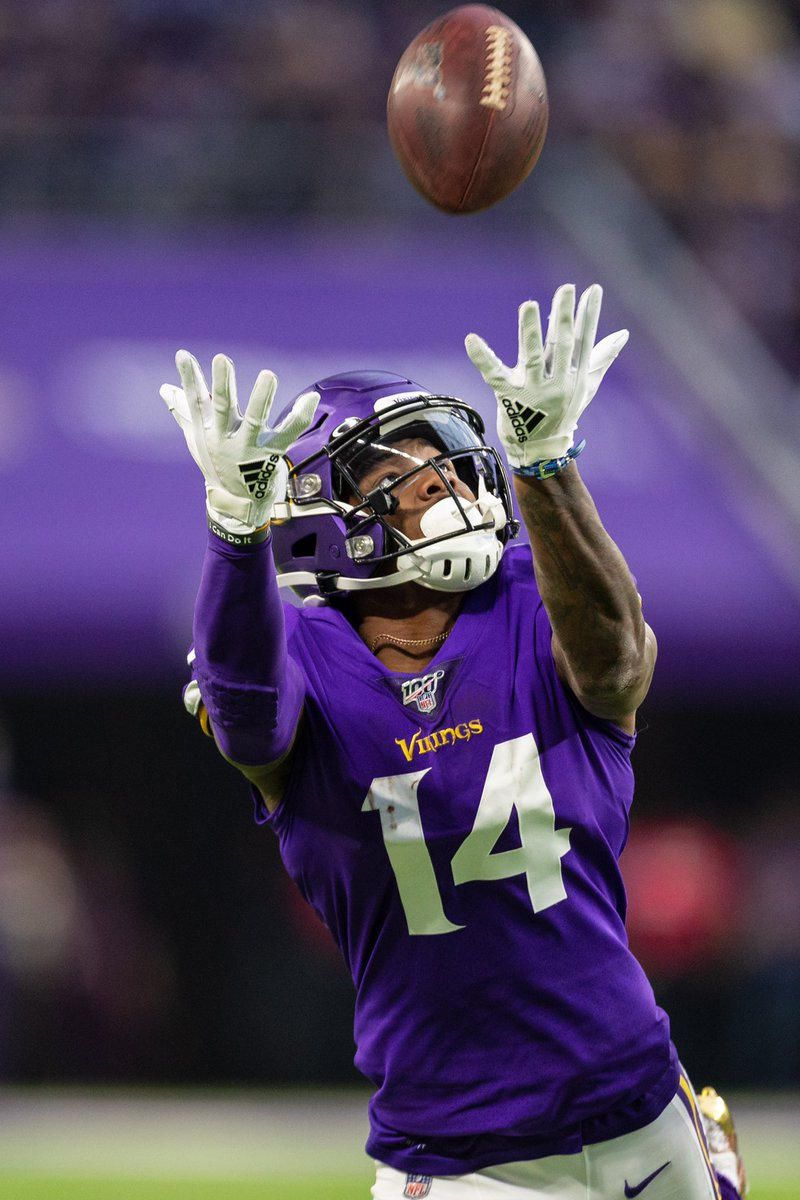 Speaking of drops... Since 2014, Stefon Diggs is one of only five wide receivers with 500 or more targets and 20 or fewer drops (has 18). The other four in that group are Larry Fitzgerald, Michael Thomas, Antonio Brown and Emmanuel Sanders. #Vikings #SKOL