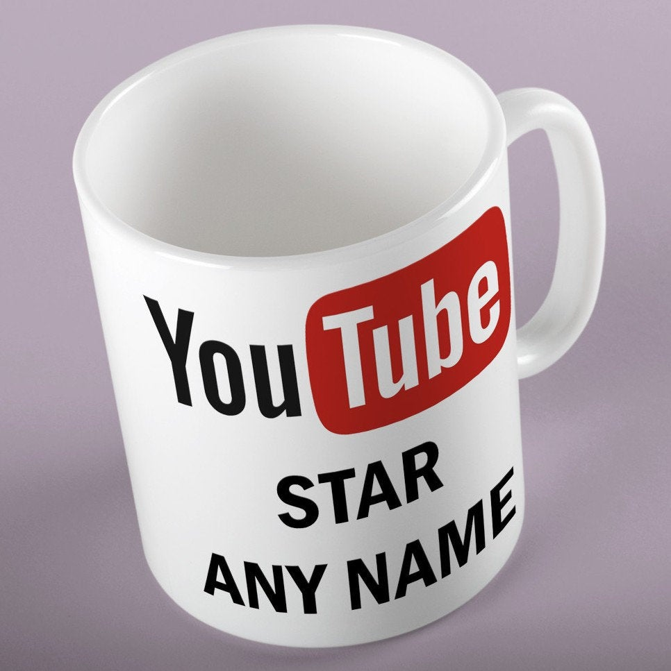 Personalised YOUTUBE STAR Mug,  Ideal for any Youtube fan,  Can be personalised with any name for Youtube.  https:// etsy.me/31vGEGK       #ChristmasGift<br>http://pic.twitter.com/hmWJ0K91UD