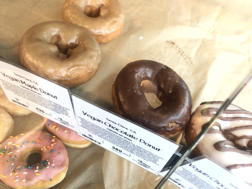 Oh geez... #vegan donuts. 480 calories each! How is this sugar, seed oil and gluten bomb healthier than meat?