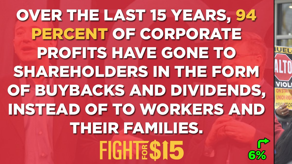 Corporations are exploiting workers in order to siphon more money to the already rich. Enough is enough.  https:// qoo.ly/33bjn5      #FightFor15<br>http://pic.twitter.com/GtabonI7gP