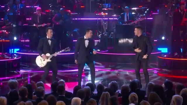 """.@jonasbrothers take us to a """"Boogie Wonderland"""" in this sneak peek of their @EarthWindFire tribute at the Kennedy Center Honors. Watch the entire #KCHonors Sunday at 8/7c on CBS and @CBSAllAccess."""