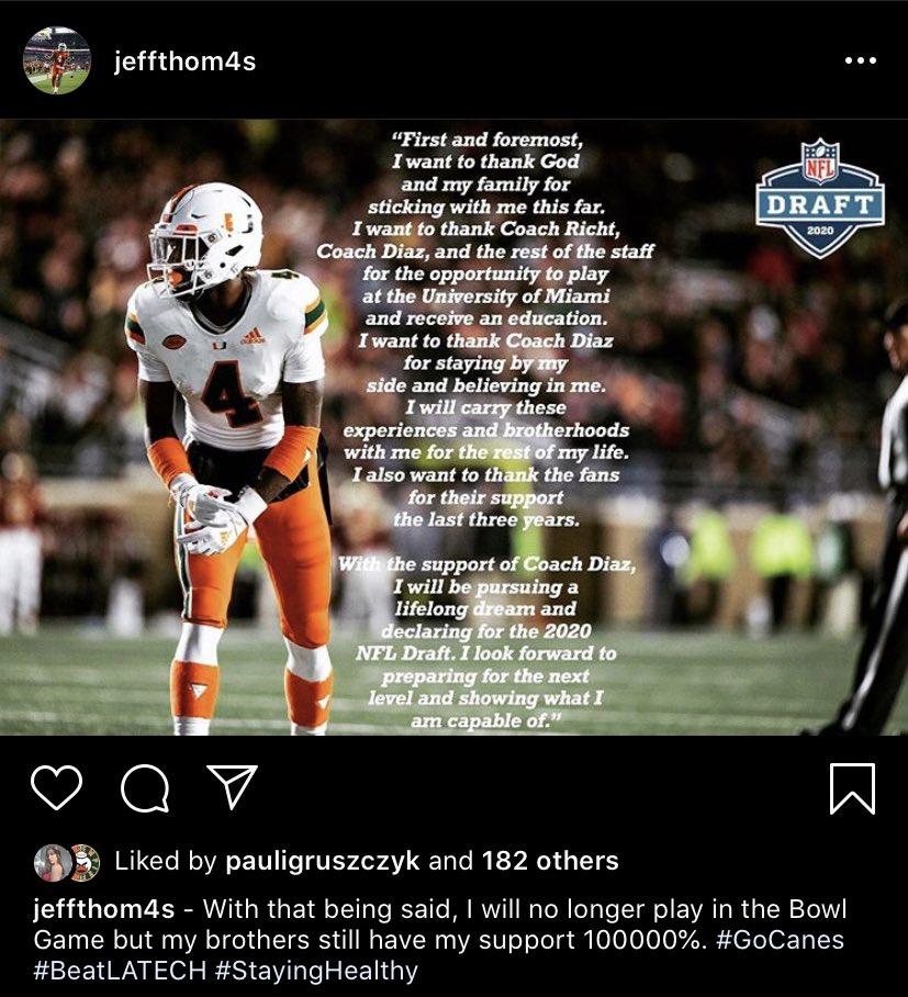 Jeff Thomas to NFL Draft