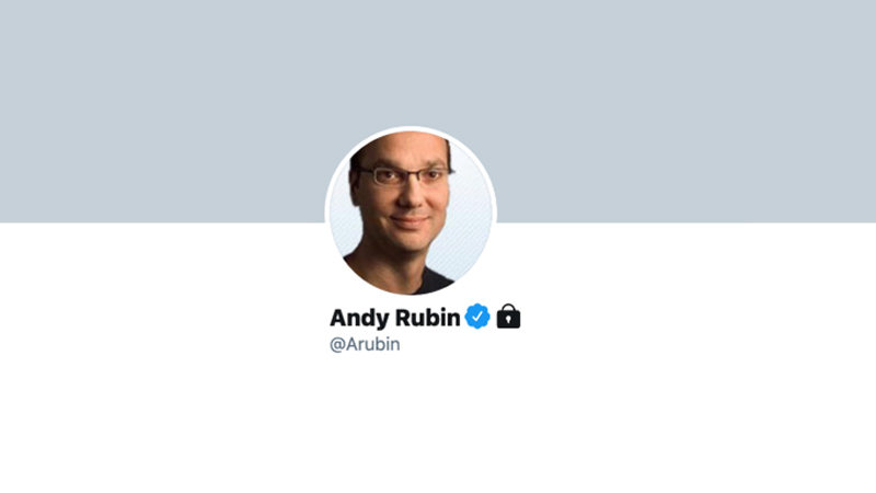 Disgraced ex-Google exec Andy Rubin blocks everyone on Twitter, and good