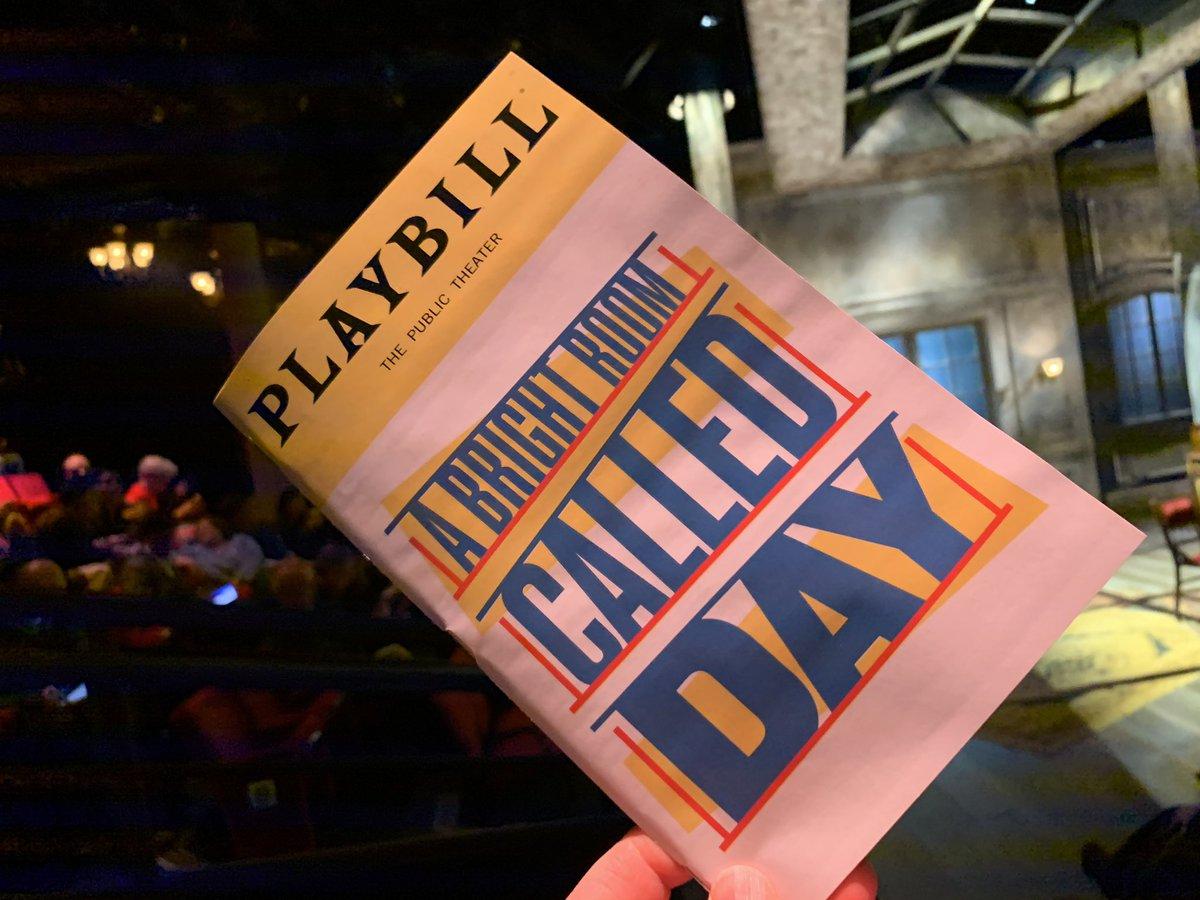 "Tonight: ""A Bright Room Called Day,"" by Tony Kushner, at @PublicTheaterNY"