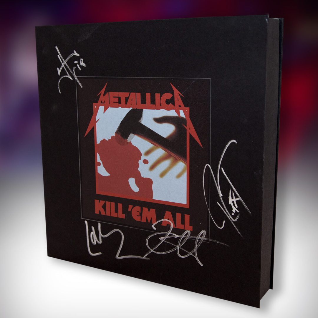 """#GivingTuesday may have come and gone, but the @AWMHFoundation sweepstakes continues for a few more days! A $10 donation = 1 entry to win an autographed """"Kill 'Em All"""" Deluxe Box Set or an autographed """"Funko Pop! Rocks: Metallica"""" set. Visit talli.ca/go-fund-me-swe… to enter."""