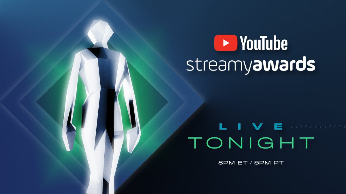 Creators + Award Show =  Our Friday night. The #streamys start now. We'll be keeping you updated all night. A @streamys thread.
