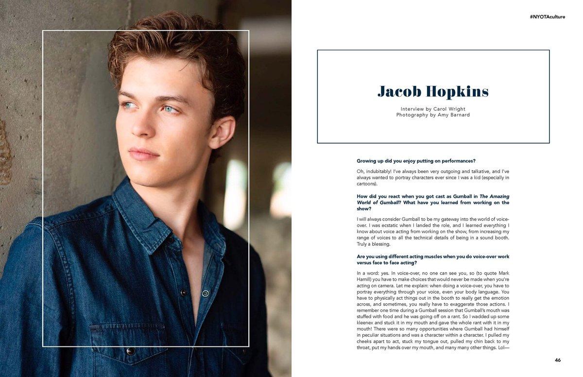 Actor @HopkinsJacob5 with @nyotamagazine ✨ #gumball #dragonsrescueriders