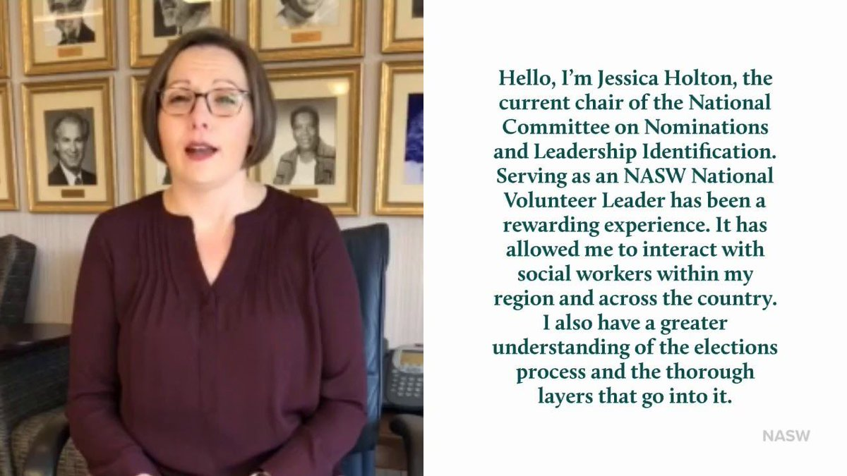 NASW's Jessica Holton Encourages You to VOTE in our National Election buff.ly/2EhPjDs