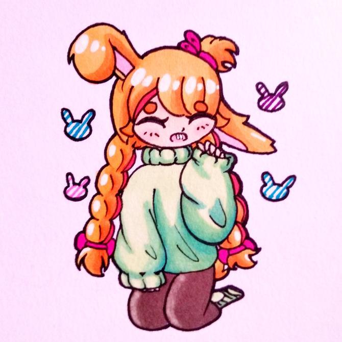 I drew a cute bunny girl today#bunny #bunnygirl #art #artist #girl #cute #kawaii #chibi #drawing #traditionalart #traditional #draw #drawings #artontwitter #illustration #kawaiiart #cuteart #chibiart #kawaiiaesthetic #rabbit #rabbitgirl #animegirl #cutegirl #animeart #anime #ocpic.twitter.com/4hTLXWYkUy