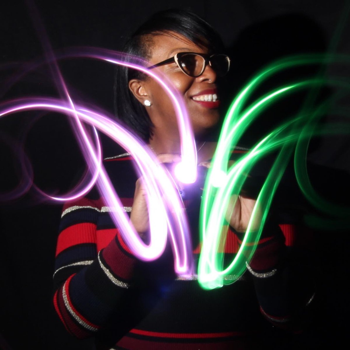Holiday lights @ @arts4learning holiday gathering 2019! #lightpainting #nofilter #artsintegration