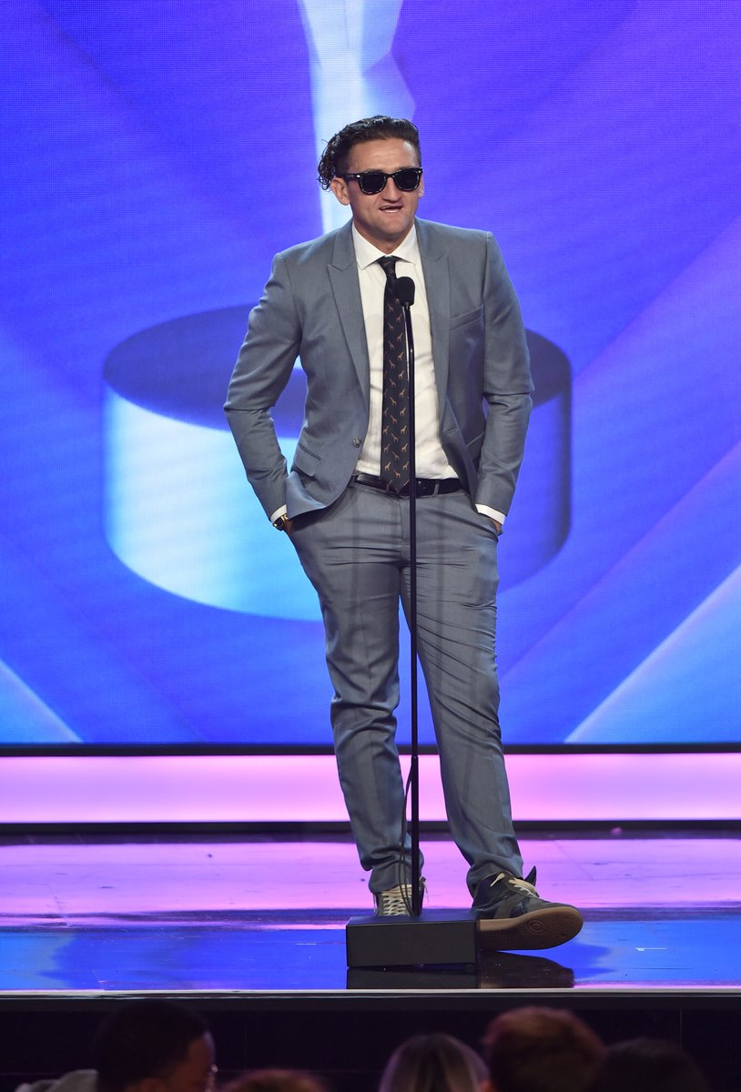 .@Casey takes the #streamys stage to present Creator of the Year! https://t.co/eyW81MSh07