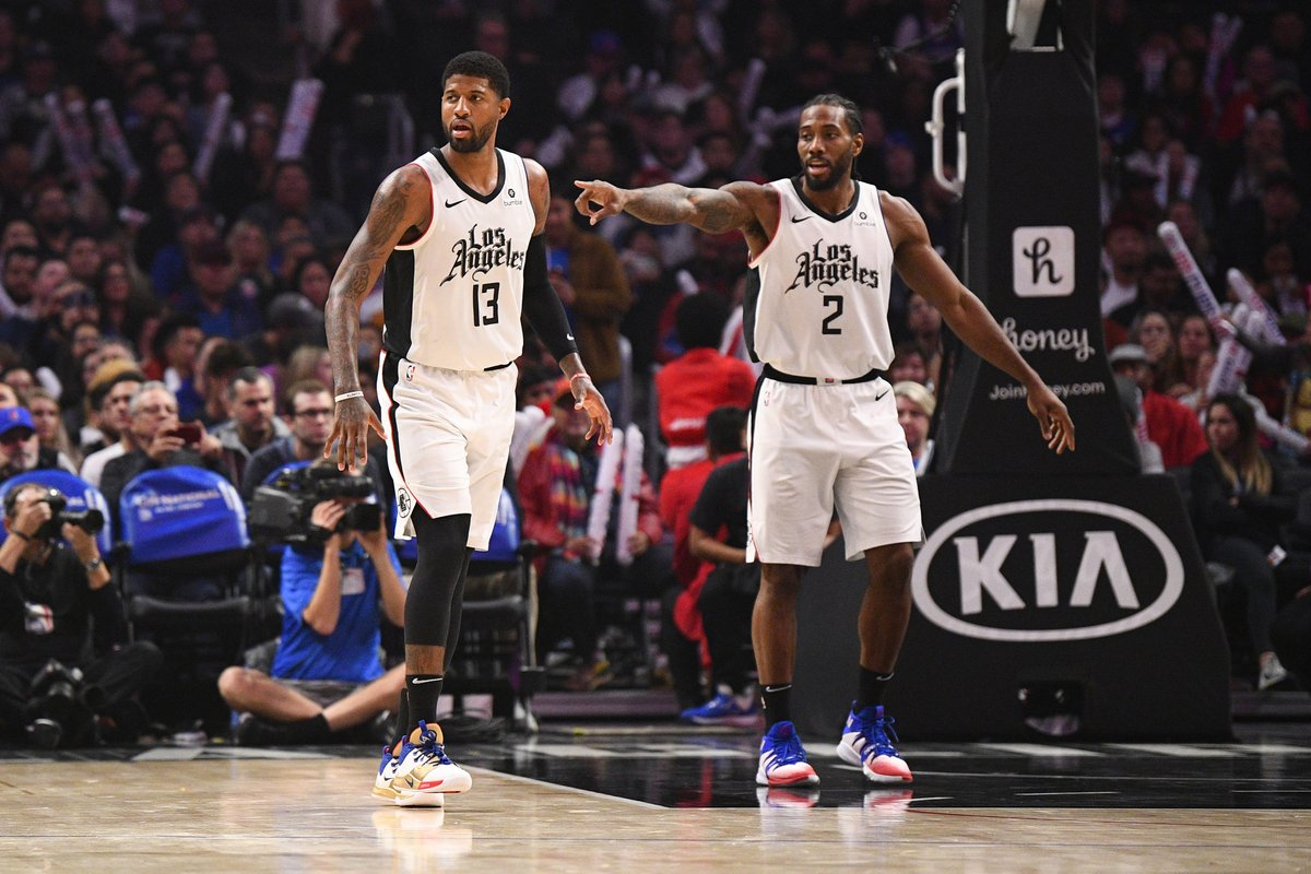 Kawhi and PG are the first pair of Clippers teammates in franchise history to drop 40+ each in a game.