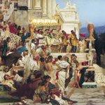 Image for the Tweet beginning: 12月15日 ローマ皇帝 #ネロ 誕生(37-68) 当初は善政を行なっていましたが次第に残虐となり、母と妻を殺害。さらに64年の #ローマ大火