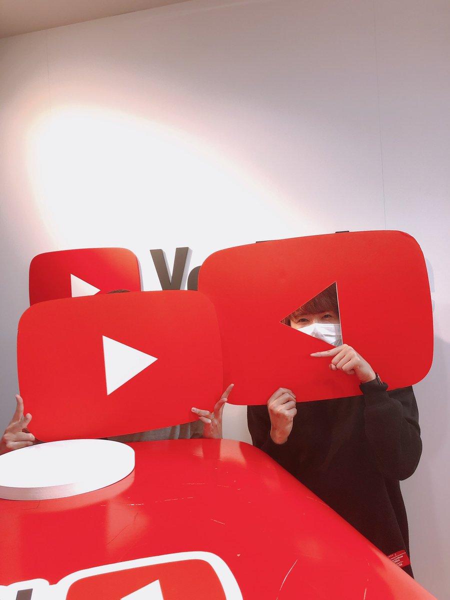 赤髪のともさんとリアル初めましてを成し遂げました🥺ウオオ#youtubespacetokyo