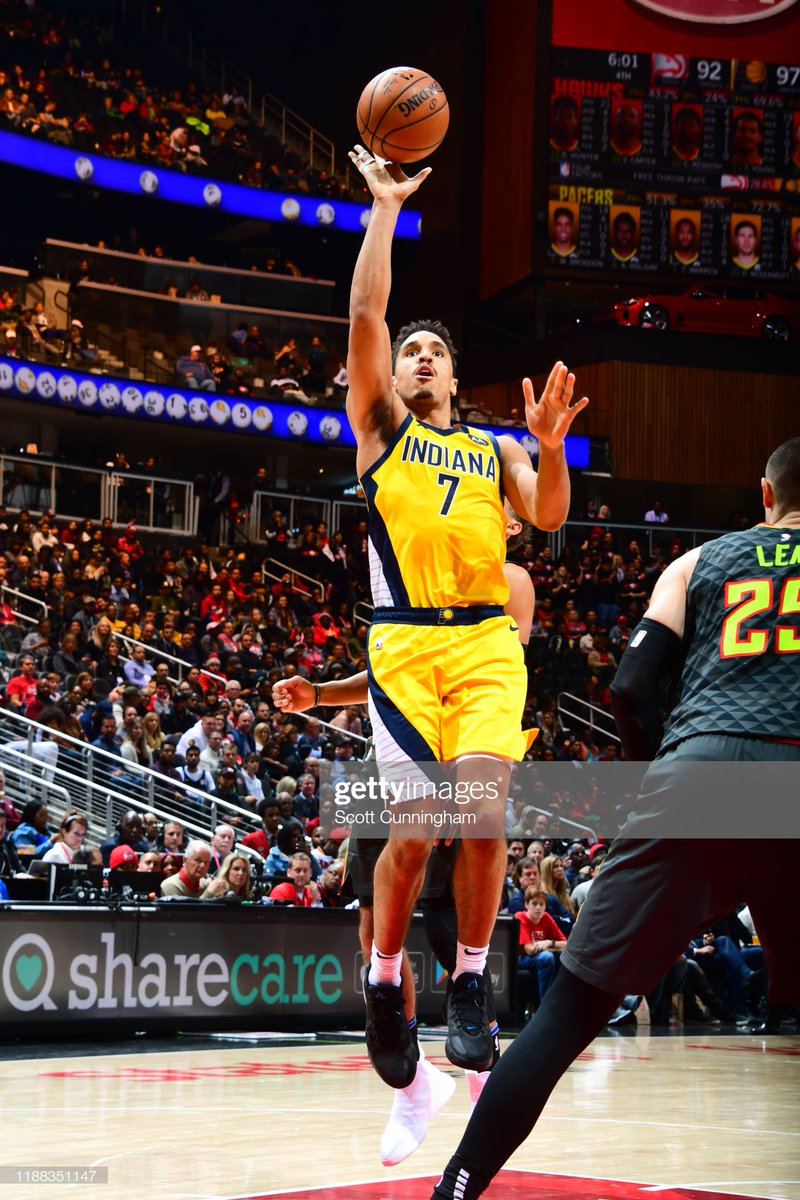 The @Pacers improved to 17-9 for the season after getting the road win in Atlanta!  #IndianaStyle 110 #TrueToAtlanta 100  Malcolm Brogdon: 19 PTS, 8 REB, 12 AST TJ Warren: 18 PTS Doug McDermott: 16 PTS, 3-3 3PT Domantas Sabonis: 12 PTS, 14 REB  #NBA