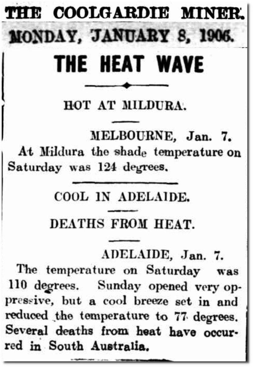RT @MRobertsQLD: Fact Check: FALSE  On 8 January 1906, it was 124f (51.11c) in Mildura. https://t.co/B9GrqlHlpR https://t.co/MaMlqUw2WB