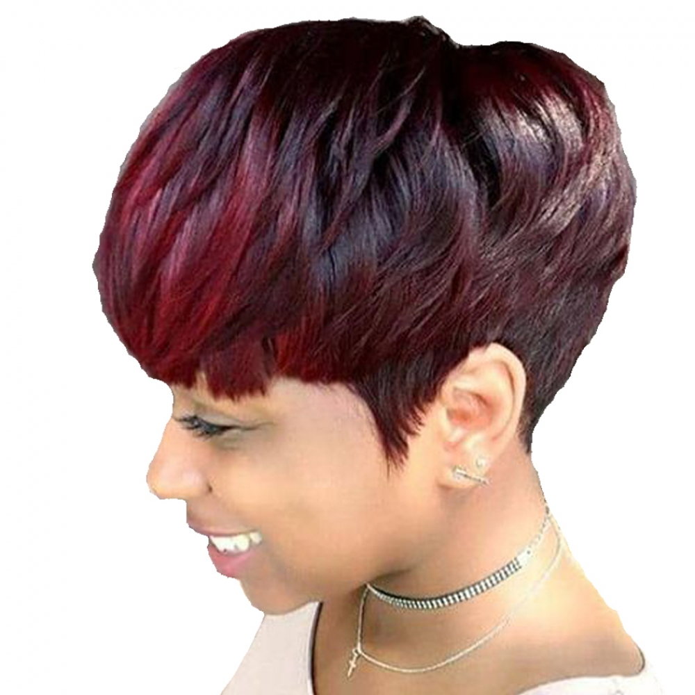 #haircolour #cute Brazilian Colorful Short Human Hair Wig for Women https://wigstylz.com/brazilian-colorful-short-human-hair-wig-for-women/…