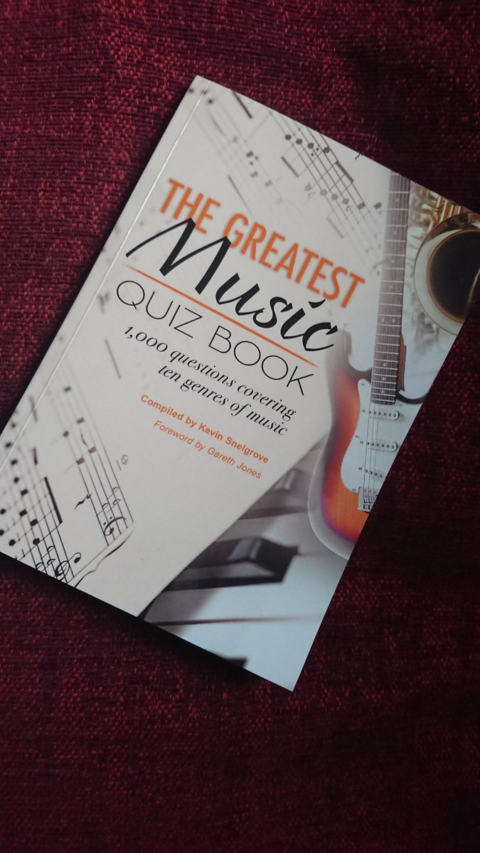 Need an Xmas prezzie idea? then how about this: The Greatest Music Quiz Book. No I didnt write it, but I did write the foreword. #Xmas