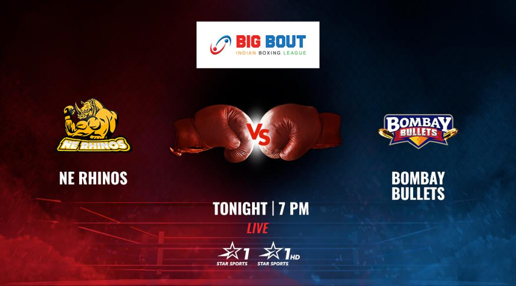 Get set for a cracking encounter in the ring as NE Rhinos and Bombay Bullets clash in the #BigBoutLeague!  Who'll come out victorious in this ?   Watch LIVE:  : Tonight, 7 PM : Star Sports 1/1HD <br>http://pic.twitter.com/a2dJi3au0g